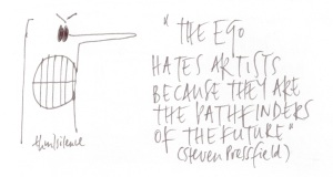 the ego hates artists ...